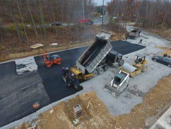 Asphalt parking lot in Cranberry, PA
