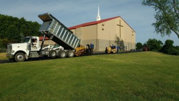 Commercial paving at New Stanton church