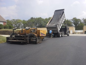 Commercial asphalt paving project in Greensburg, PA Oct 2015
